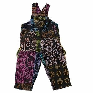 Sacred Threads Hippie Patchwork Boho Kids Overalls
